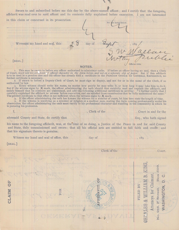 General Affidavit of Ella Ayers
