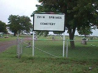 Erin Springs Cemetery sign