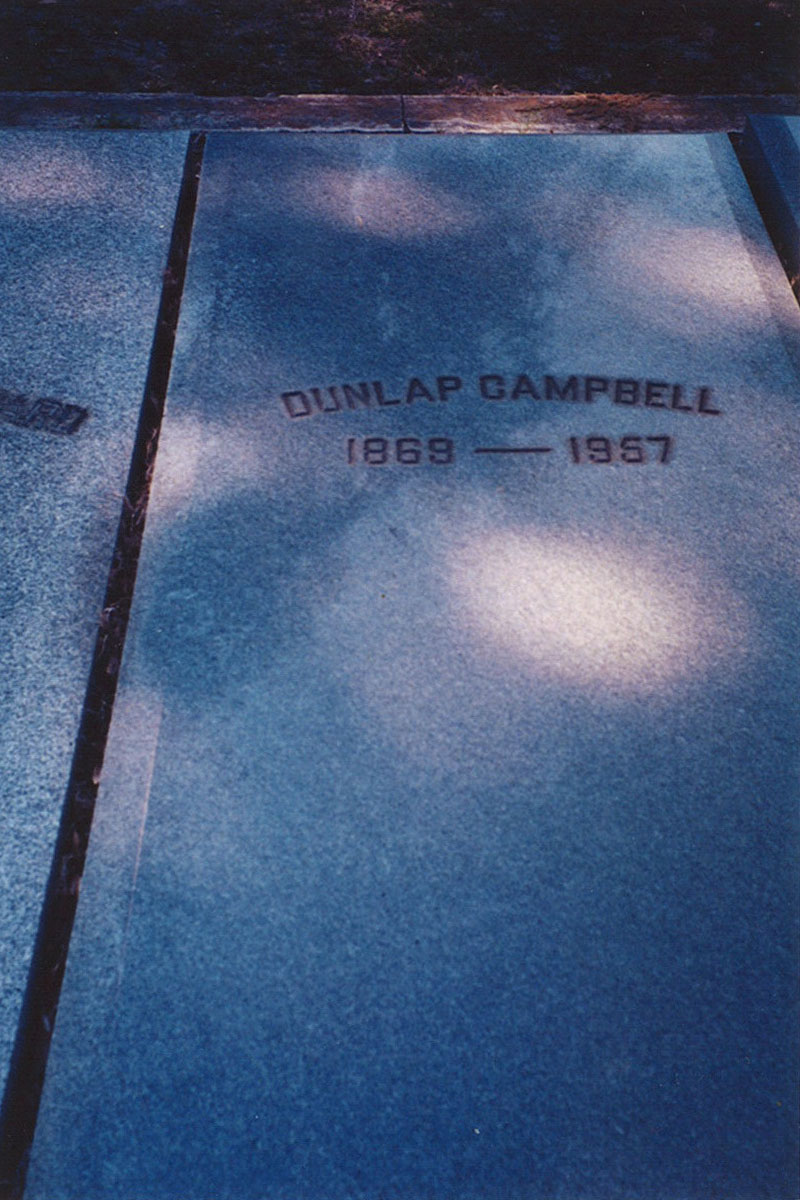 Dunlap Campbell headstone