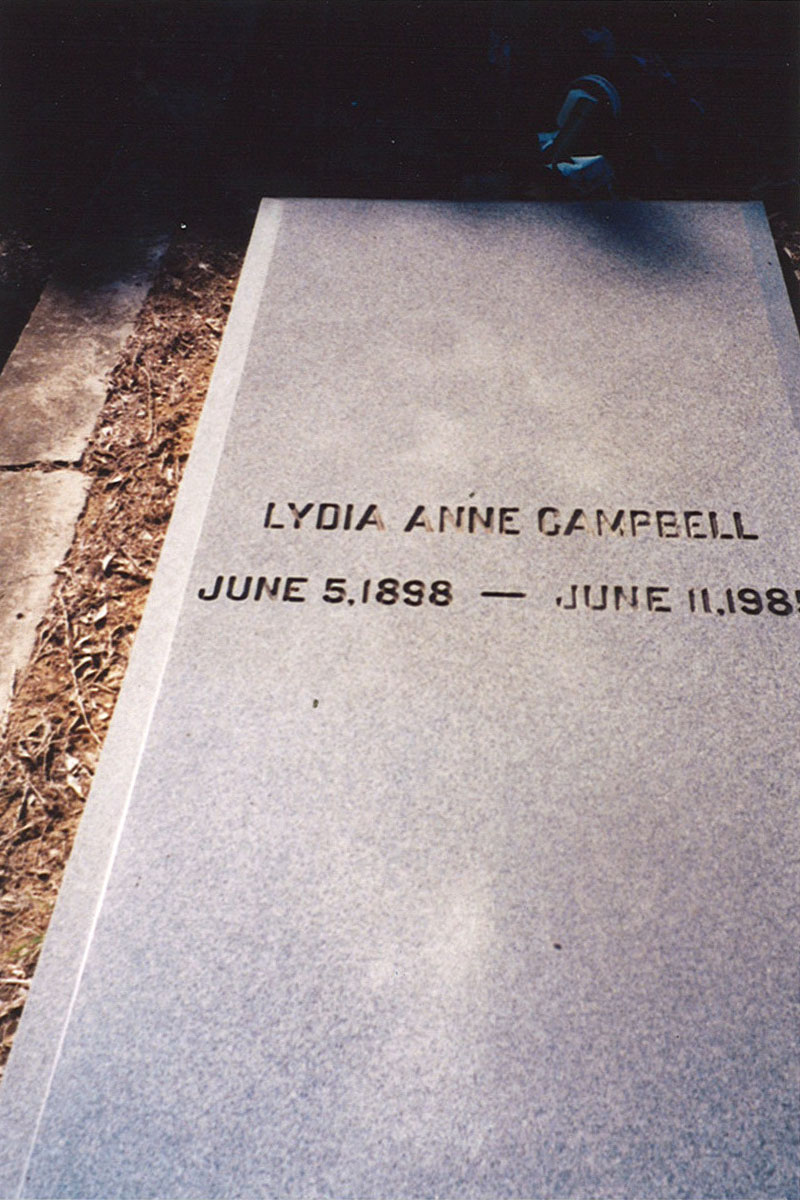 Lydia Ann Campbell headstone